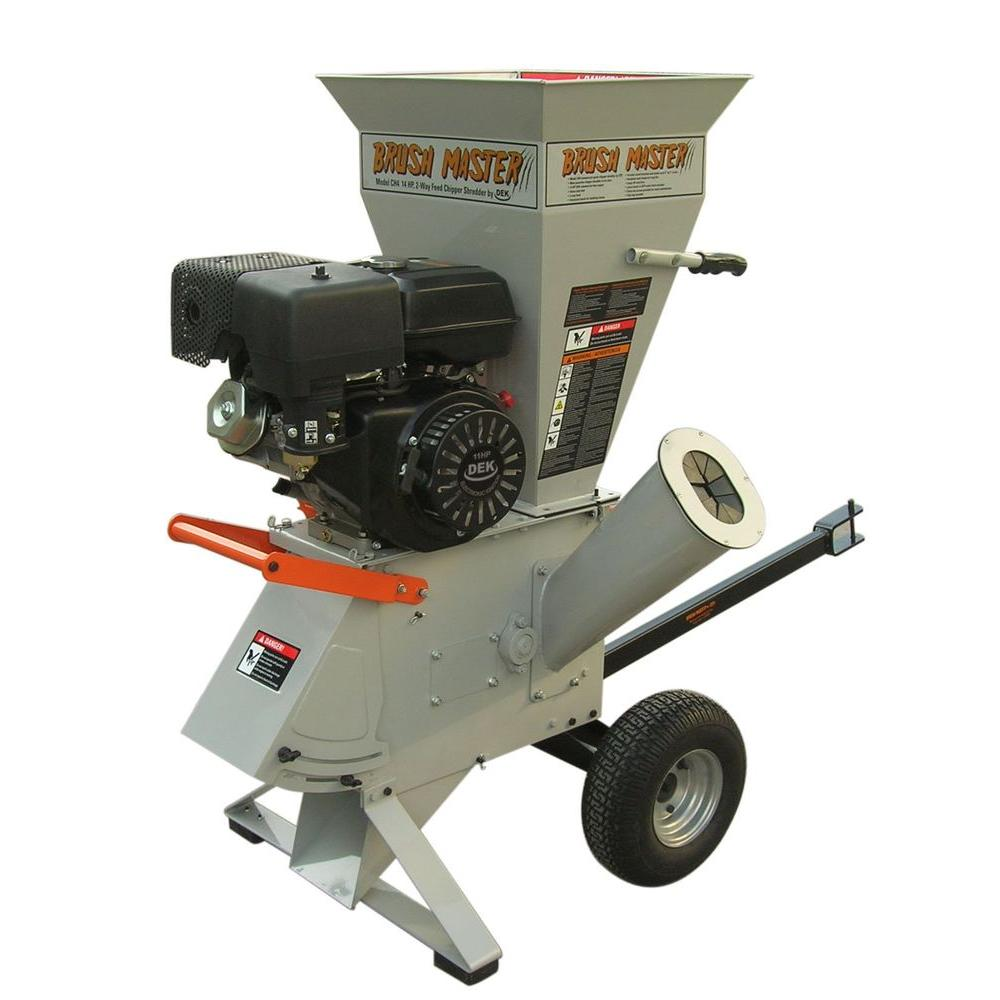 Brush Master 11 Hp 270 Cc Gas Commercial Duty Chipper Shredder With 3 In Diameter Feed Ch3 The Home Depot Wood Chipper Chromium Steel Chippers