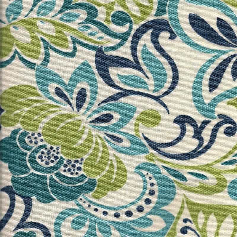 cervantes mallard floral bluegreen color for outdoor drapes in standard readymade and
