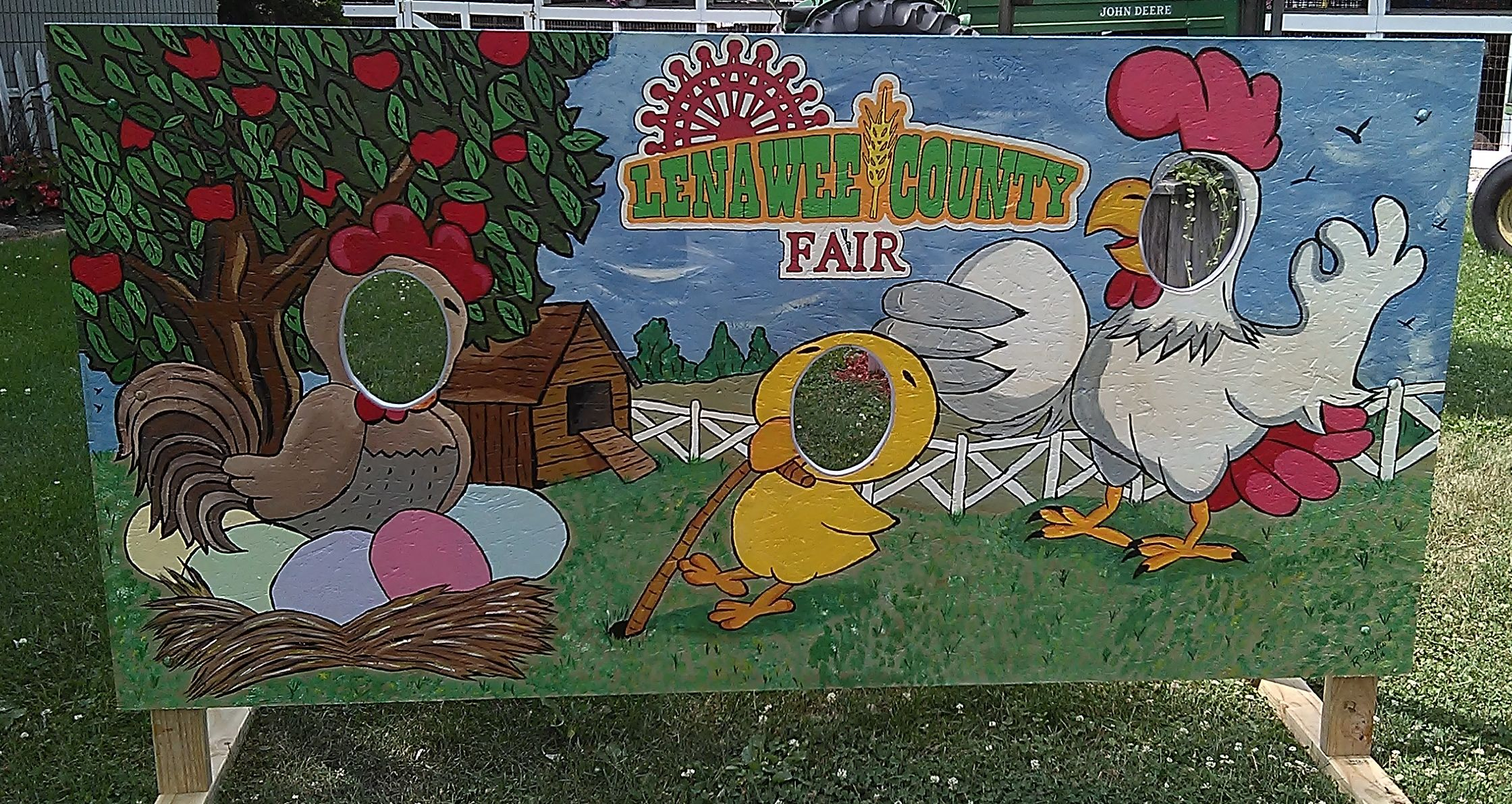 Face In The Hole Board For The 2016 Lenawee County Fair