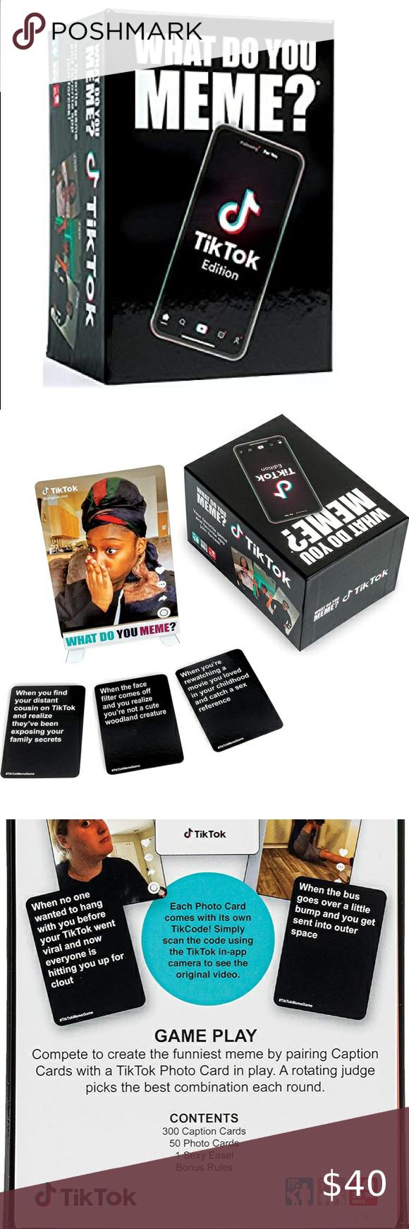 What Do You Meme Tiktok Version What Do You Meme You Meme Card Games