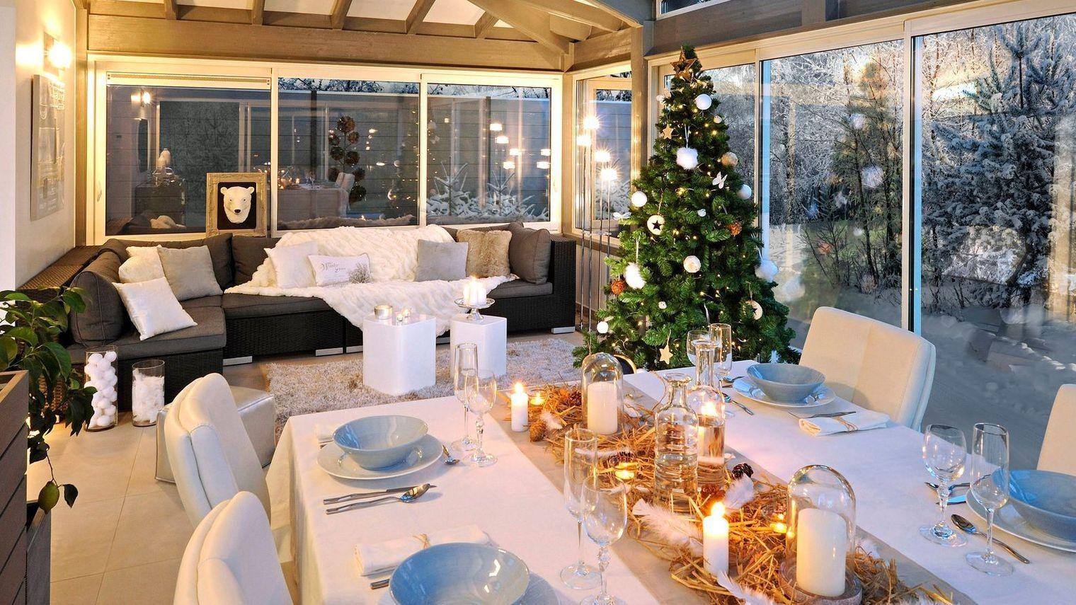 Noël dans sa v randa avec decoration veranda et decorations de noel