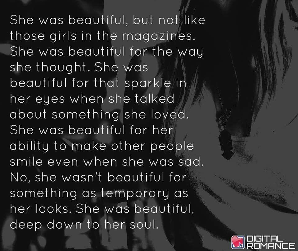 She was beautiful..