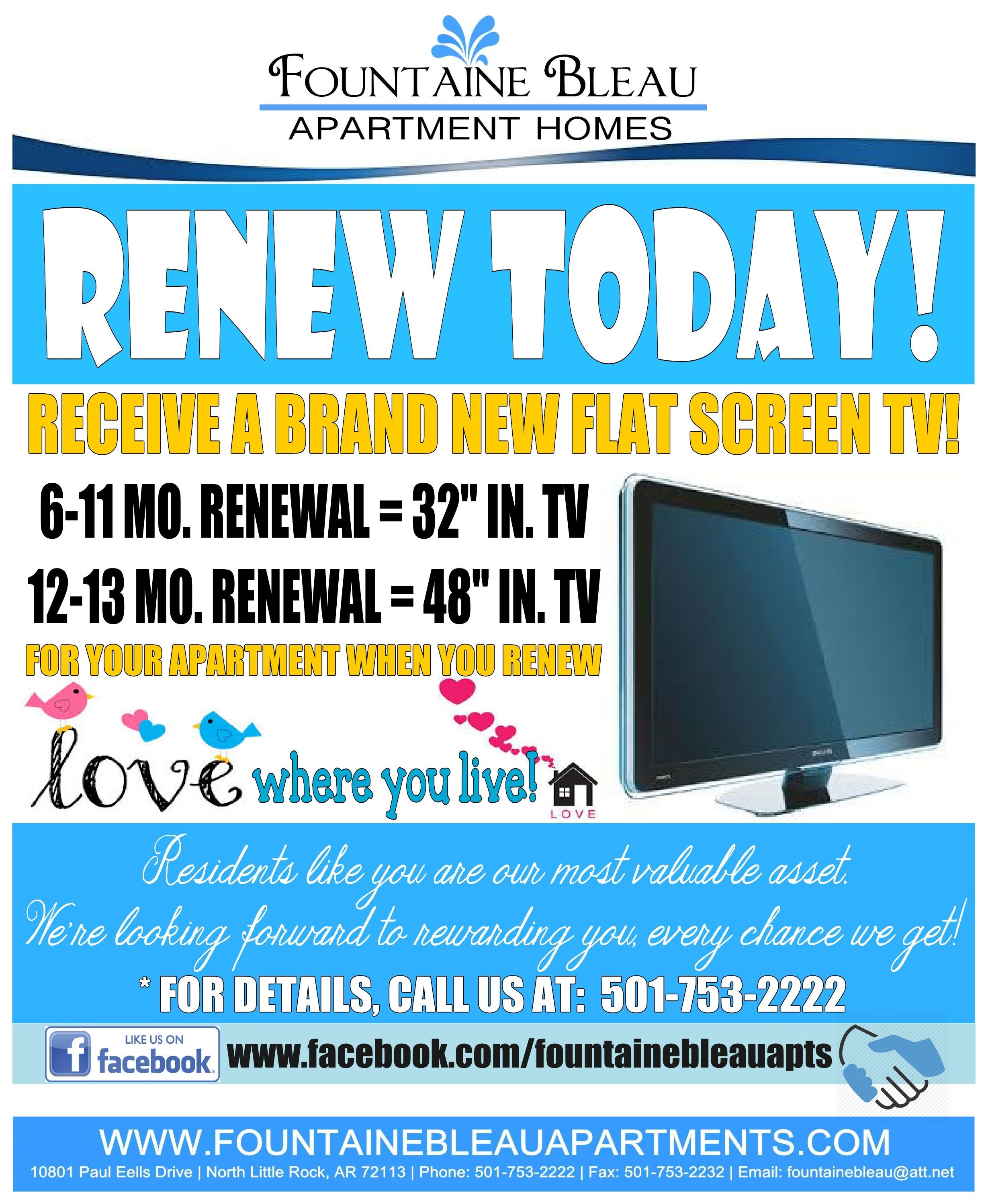 Apartment For Rent Flyer: Lease Renewal Flyer I Made For Our Residents