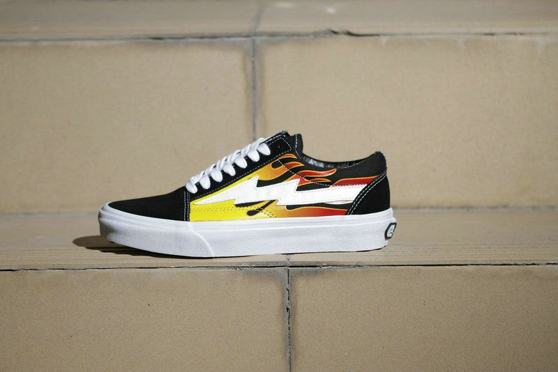 18acdba676 Revenge x Storm Pop up Store Vans Old Skool Fire Flame Lightning Skate Shoe  amazon Recommend Vans For Sale  Vans