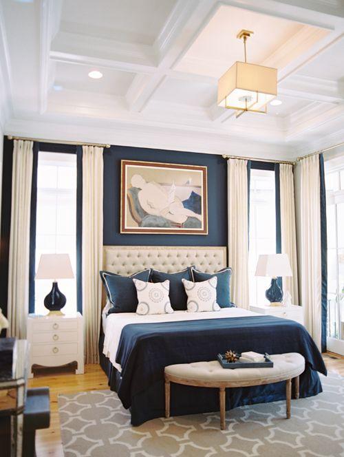 South East Interior Design Blue Master Bedroom Master Bedrooms Decor Transitional Bedroom Design
