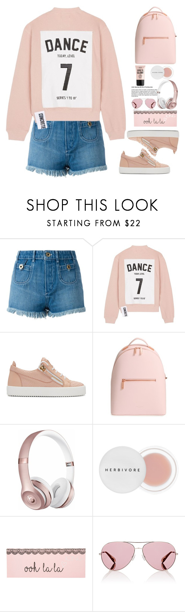 """""""Untitled #708"""" by jovana-p-com ❤ liked on Polyvore featuring Chloé, Studio Concrete, Giuseppe Zanotti, Ted Baker, Beats by Dr. Dre, Herbivore, Oliver Peoples and NYX"""