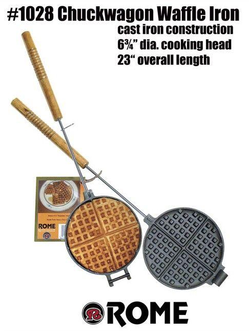 grill waffeleisen rund rome industries f rs lagerfeuer mit diesem waffeleisen aus gusseisen. Black Bedroom Furniture Sets. Home Design Ideas