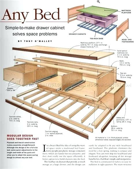 Bed Storage Plans Under Bed Storage Plans Free Diy Storage Bed Plans Bed Frame With Storage Diy Storage Bed Diy Storage Bed Plans