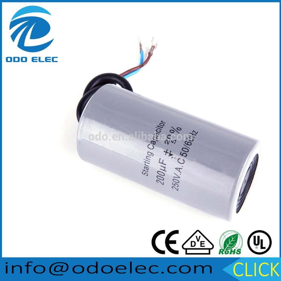 Staring Capacitor Cd60 200uf Heavy Duty Electric Motor Starting Capacitors Capacitor Capacitors Electric Motor