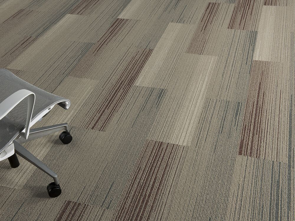 Silver Linings Colorful Skinny Plank Carpet Tile Collection By