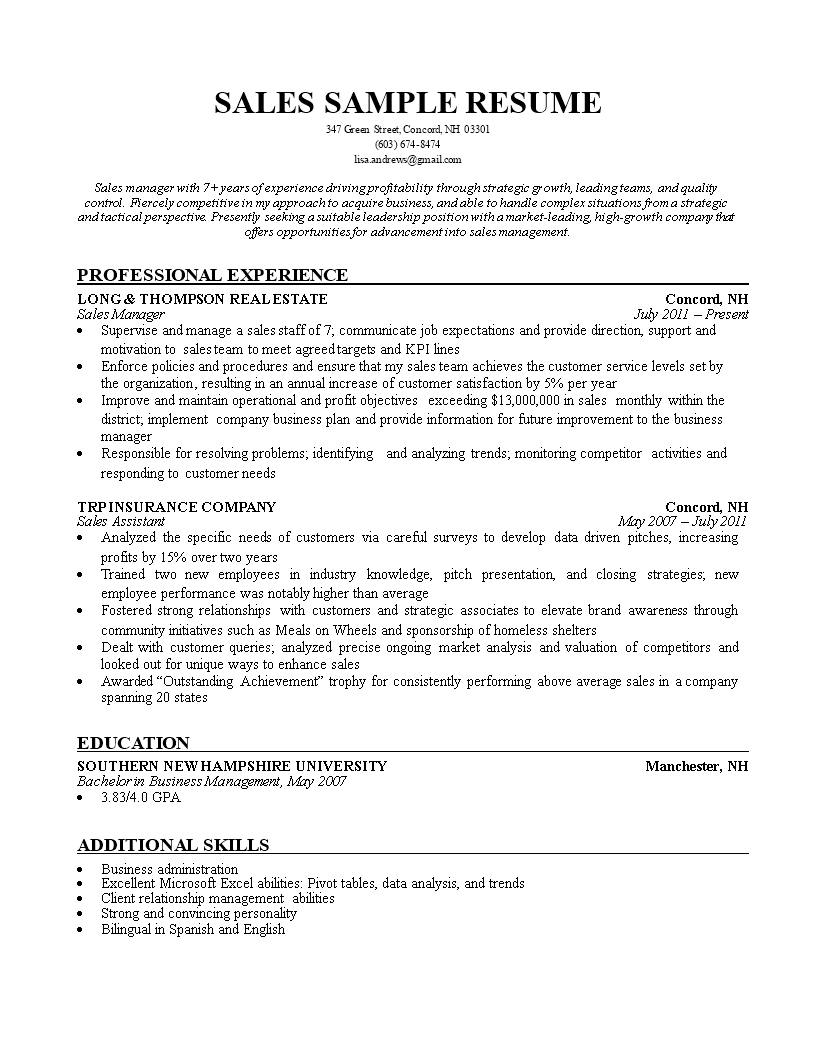 Sales Insurance Agent Resume How To Draft A Sales Insurance