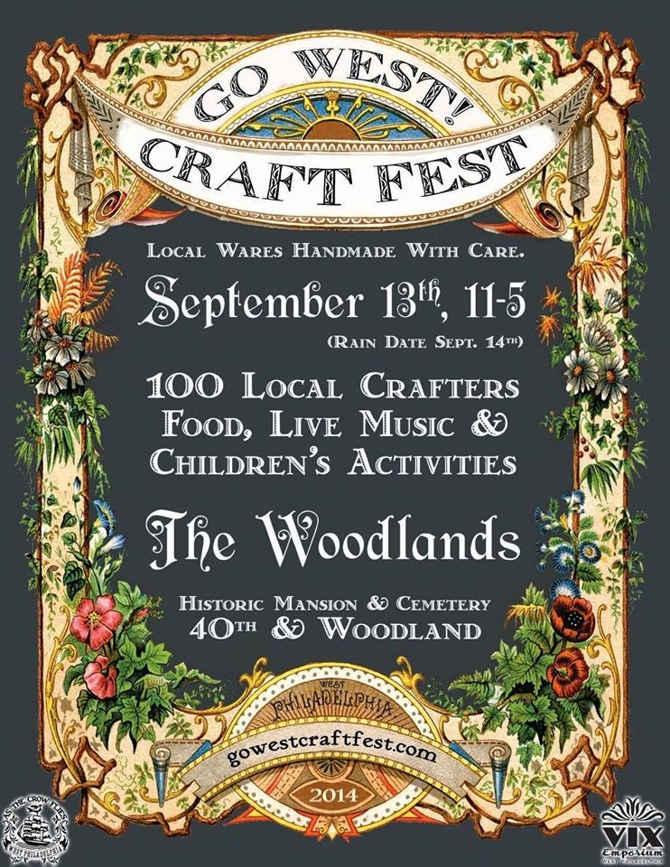 GO WEST! Craft Fest, September 13, 2014 100 local crafters, live music, kids activities, Fall Fun!