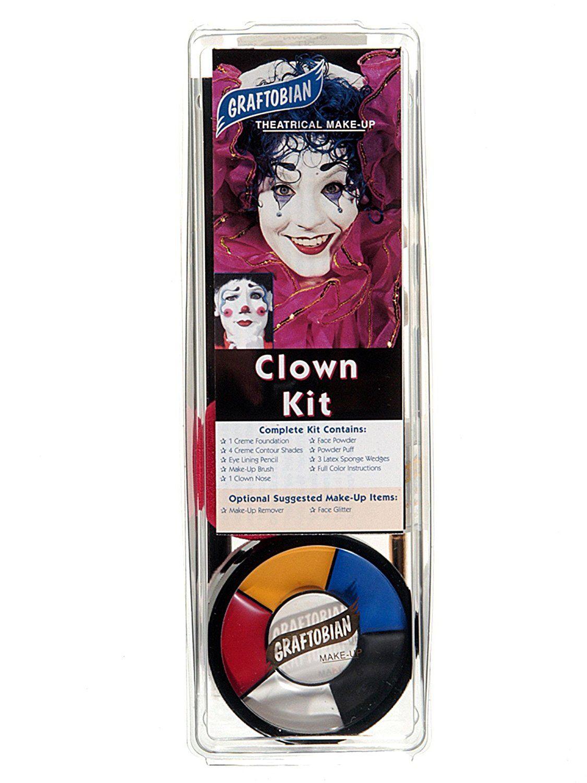 Graftobian Professional Clown Makeup Kit USA Made