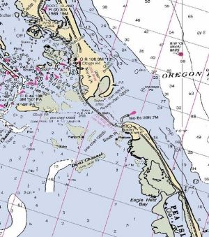 The following Outer Banks maps and maps of the NC coast are great resources, but be careful before using them for navigational purposes. Description from outerbanksfishingtoday.com. I searched for this on bing.com/images