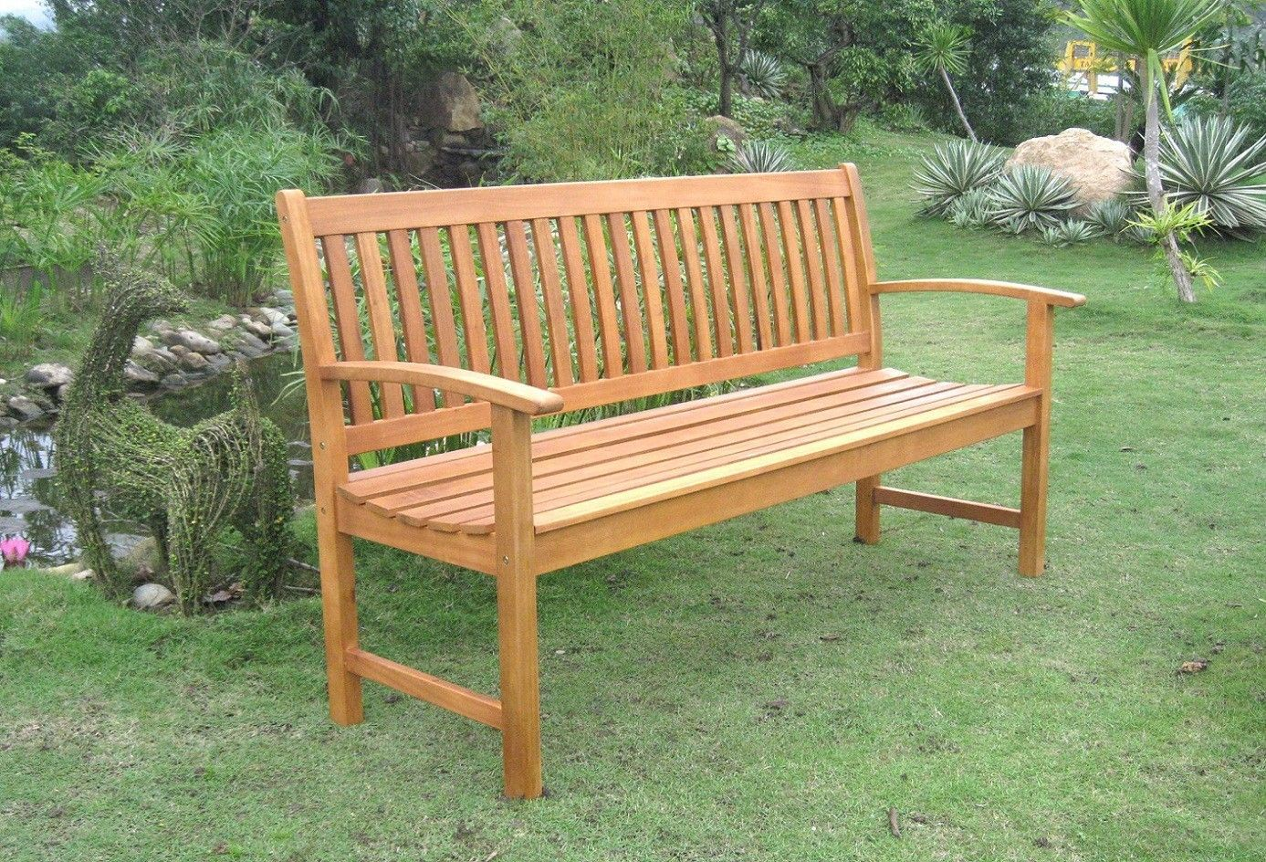 Terrific Royal Tahiti Balau 3 Seat Wood Garden Bench Outdoor Andrewgaddart Wooden Chair Designs For Living Room Andrewgaddartcom