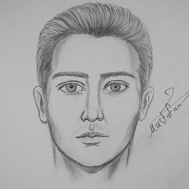 رسم الوجه للمبتدئين خطوة بخطوة الخطوات على قناتي في اليوتيوب بأسم مصطفى سعدي Musta Self Portrait Drawing Art Drawings Sketches Simple Drawing For Beginners