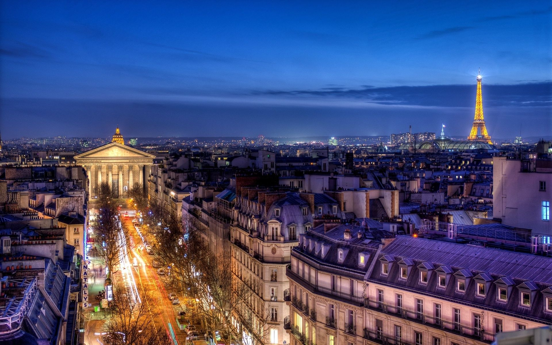 Download Night View Of Paris France