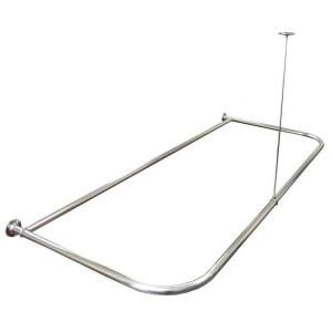 Watts Aluminum Shower Curtain Rod 668303BH At The Home Depot
