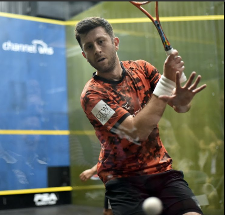 Tip for the day: A great example of solid method on the backhand side. Keep your elbow low and the racket head will naturally lift up above the ball. www.mysquash.com