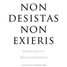 Latin Phrases Never Give Up Never Surrender Symbols Latin