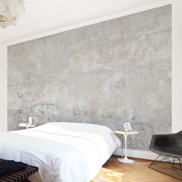 Betontapete selbstklebend - Shabby Betonoptik Wand, Interiors and
