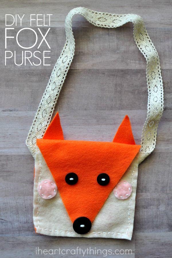 Diy Felt Fox Purse Kids Sewing Craft Kid Blogger Network