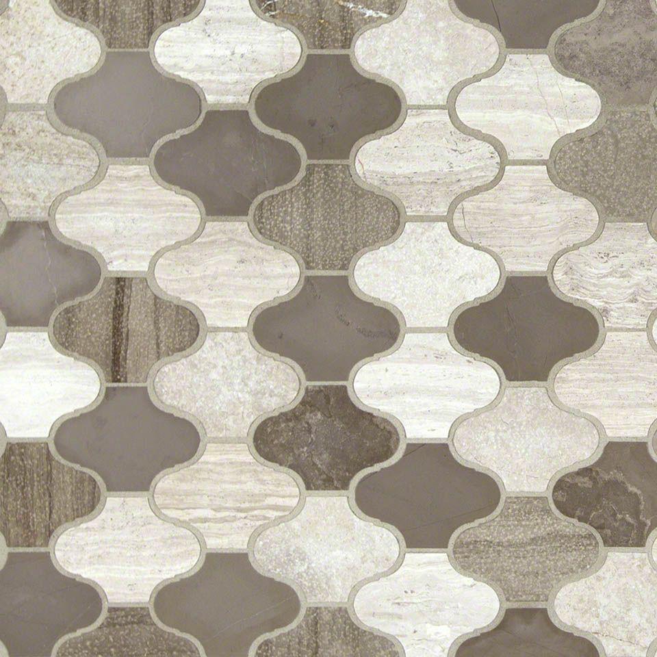 Express your unique style with new arctic storm arabesque for Unique mosaic tile