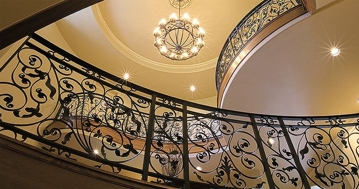 Curved Stairs | Custom Stairs and Finishes | Staircase, Handrails, Custom Stairs, Fine Staircases, Staircase Repair | Median, OH