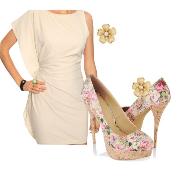 Forever 21 outfit under 100$, created by latinablankita on Polyvore  simple and gorgeous!! add a pink clutch and ta-da! adorableness for spring :)