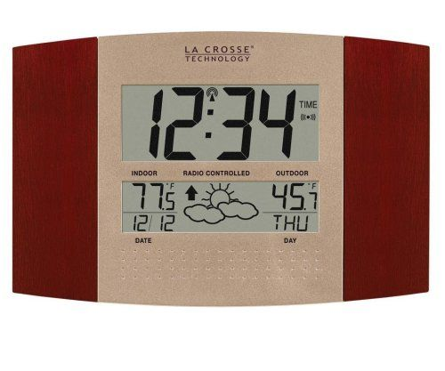 La Crosse Technology Ws 8157u Ch It Atomic Clock With Outdoor Temperature And Weather Forecast Atomic Wall Clock Clock Wireless Thermometer