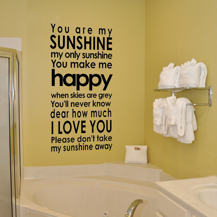 You Are My Sunshine   Subway Style Vinyl Wall Decal From Old Barn Rescue  Company Wall Decals Id Love One Of These In Each Kids Rooms