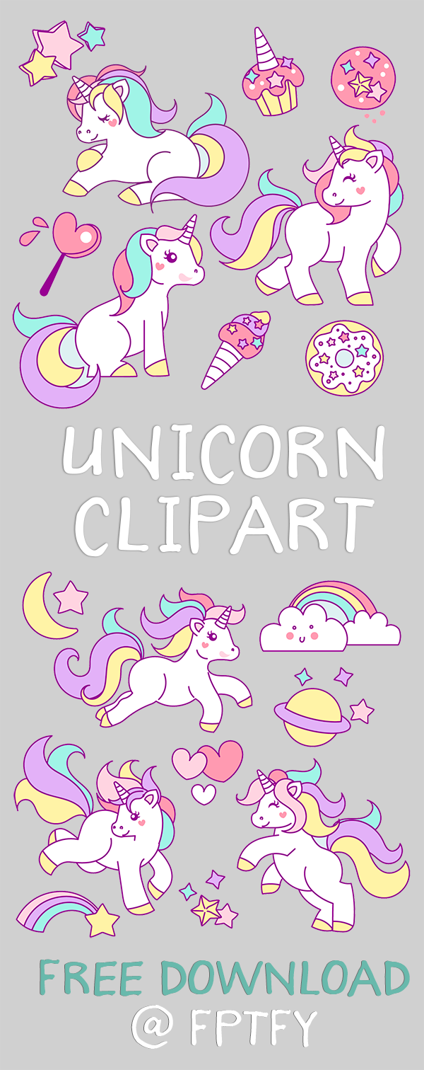 Free Hand Drawn Unicorn Clip Art | Pinterest | Unicornios, Unicornio ...