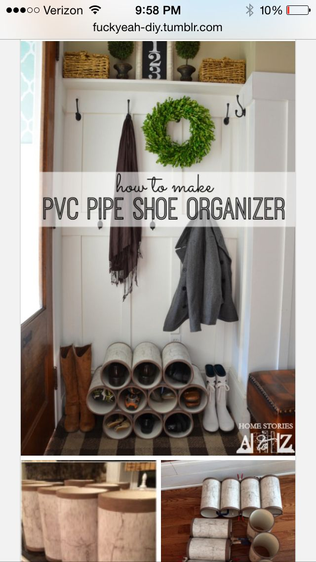Pvc pipe shoe organizer could also be good for toilet paper//fuckyeah- & Pvc pipe shoe organizer could also be good for toilet paperhttp ...
