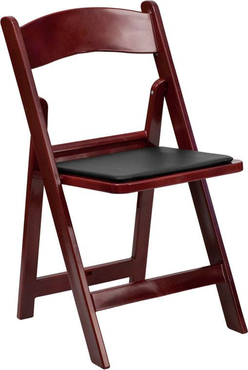 Mahogany, Red Folding Chair