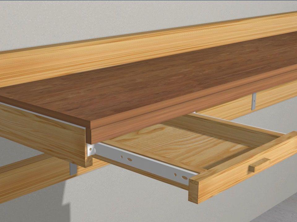 construire un établi Tavoli da lavoro e Garage - construire un garage en bois m