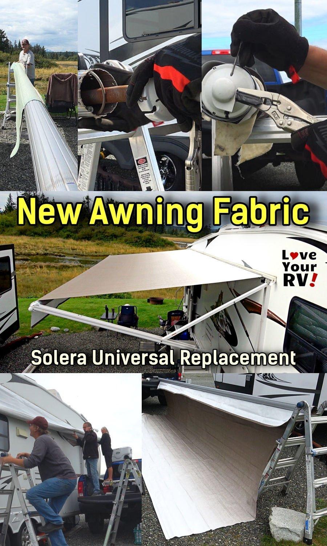 New RV Awning Fabric Installation - Solera Universal ...
