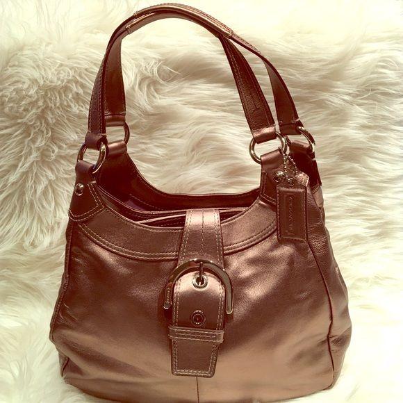 83c34046d7 Coach Bronze Metallic collector handbag Brand new