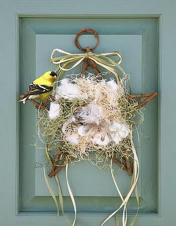 nesting star for your yard....birds will peck at the pieces to build their nests