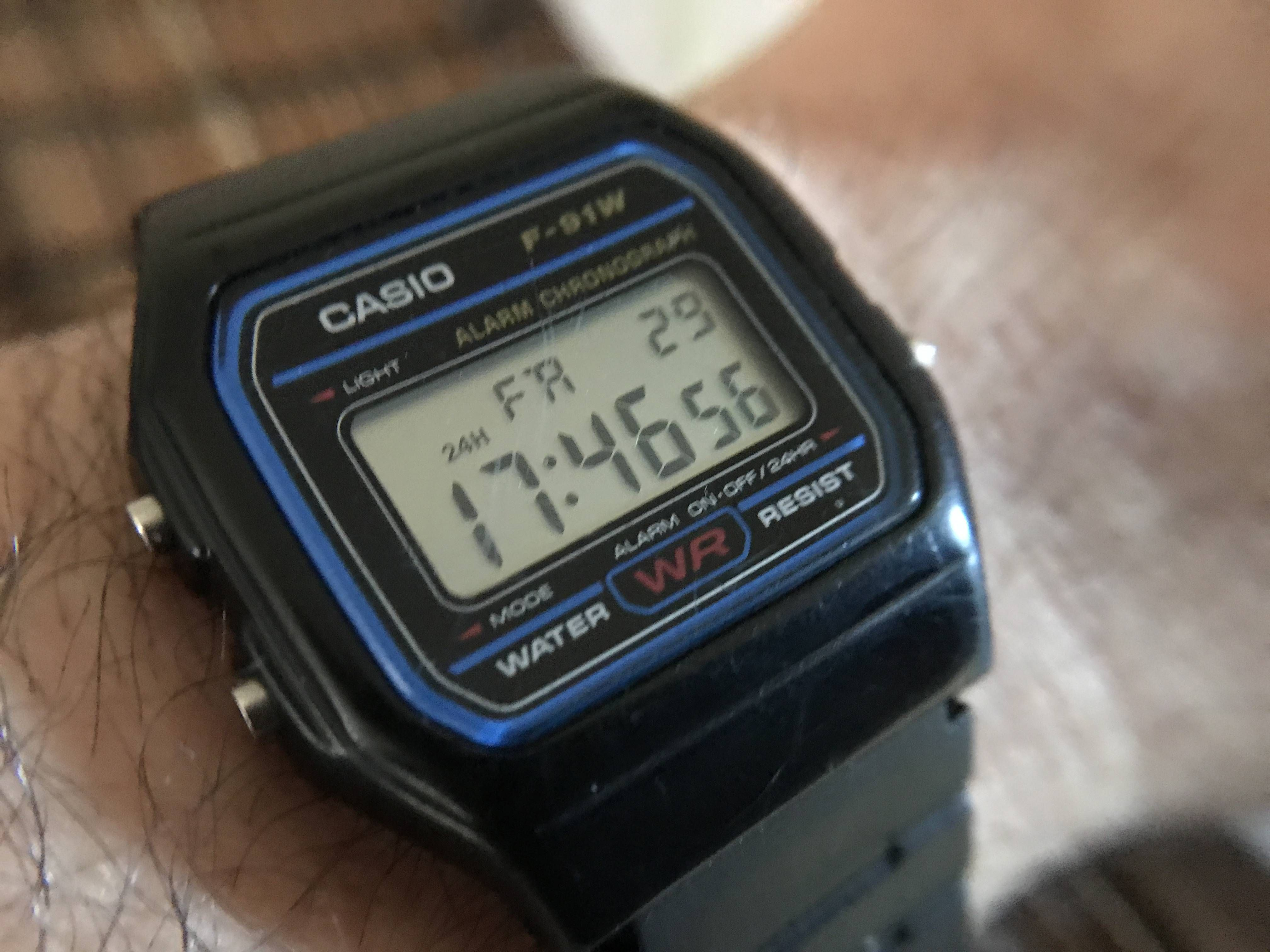 [Casio] My F-91W is my ten year old beater for running. Strap broke - replacement cost nearly as much as the watch! http://ift.tt/2yyzdjY