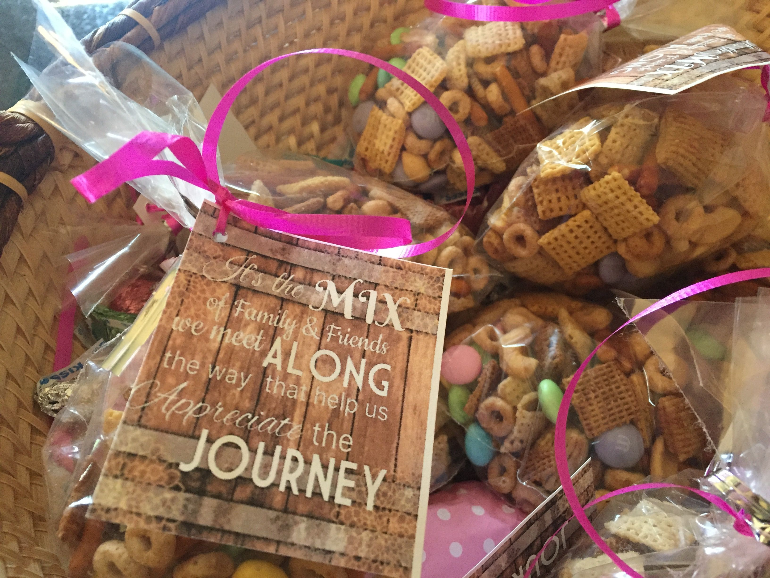 Chex mix party favors 60th Birthday Party ideas