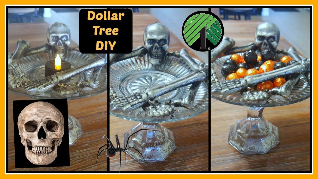 NEW DOLLAR TREE 2016 HALLOWEEN EASY DIY SKELETON PLATE