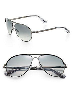 3bd82bbf02e6 Tom Ford Eyewear Marko 58MM Aviator Sunglasses - Gunmetal