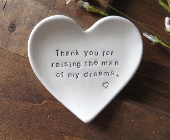 Ring Dish Mother Of Groom Gift Thank You For Raising The Man Of