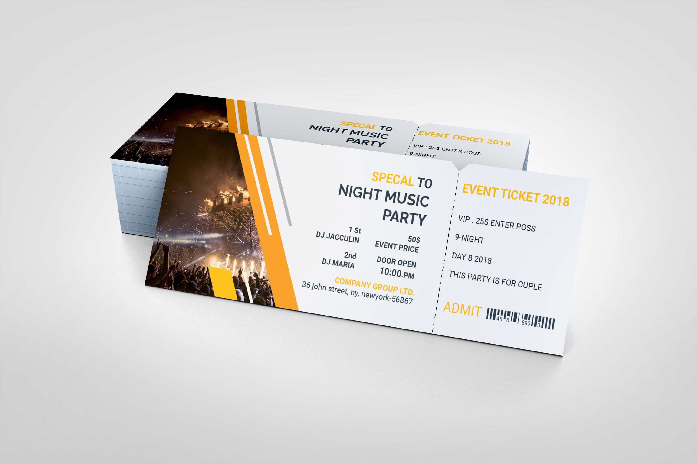 Psd Creative Ticket Template Ticket Template Event Ticket Template Templates