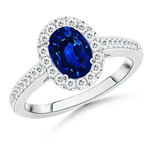 Angara Diamond Framed Halo Ruby Promise Ring in White Gold 3wUIq