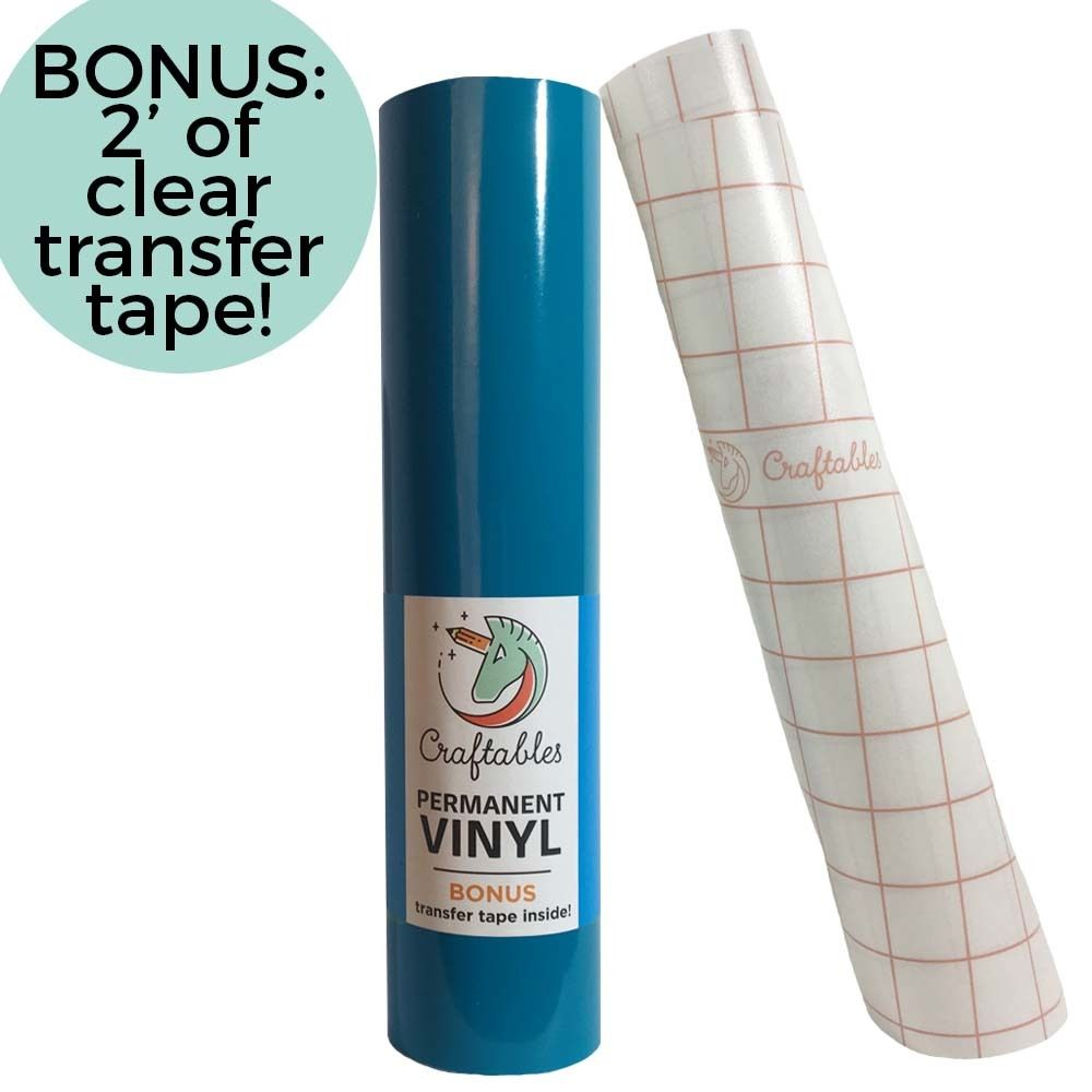 Blue Vinyl For Cricut Permanent Outdoor Adhesive Vinyl Roll 12in X 10ft Vinyl Rolls Adhesive Vinyl Vinyl