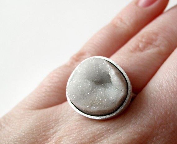 Botryoidal Drusy Agate - Candy Ring