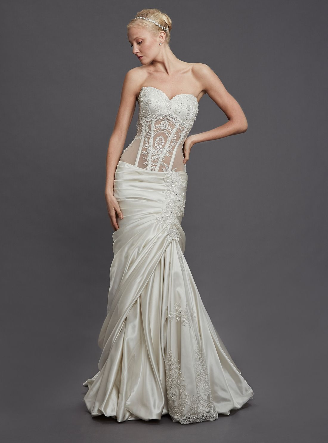 kleinfeldbridalcom perla d by pnina tornai bridal gown With pnina tornai mermaid wedding dress