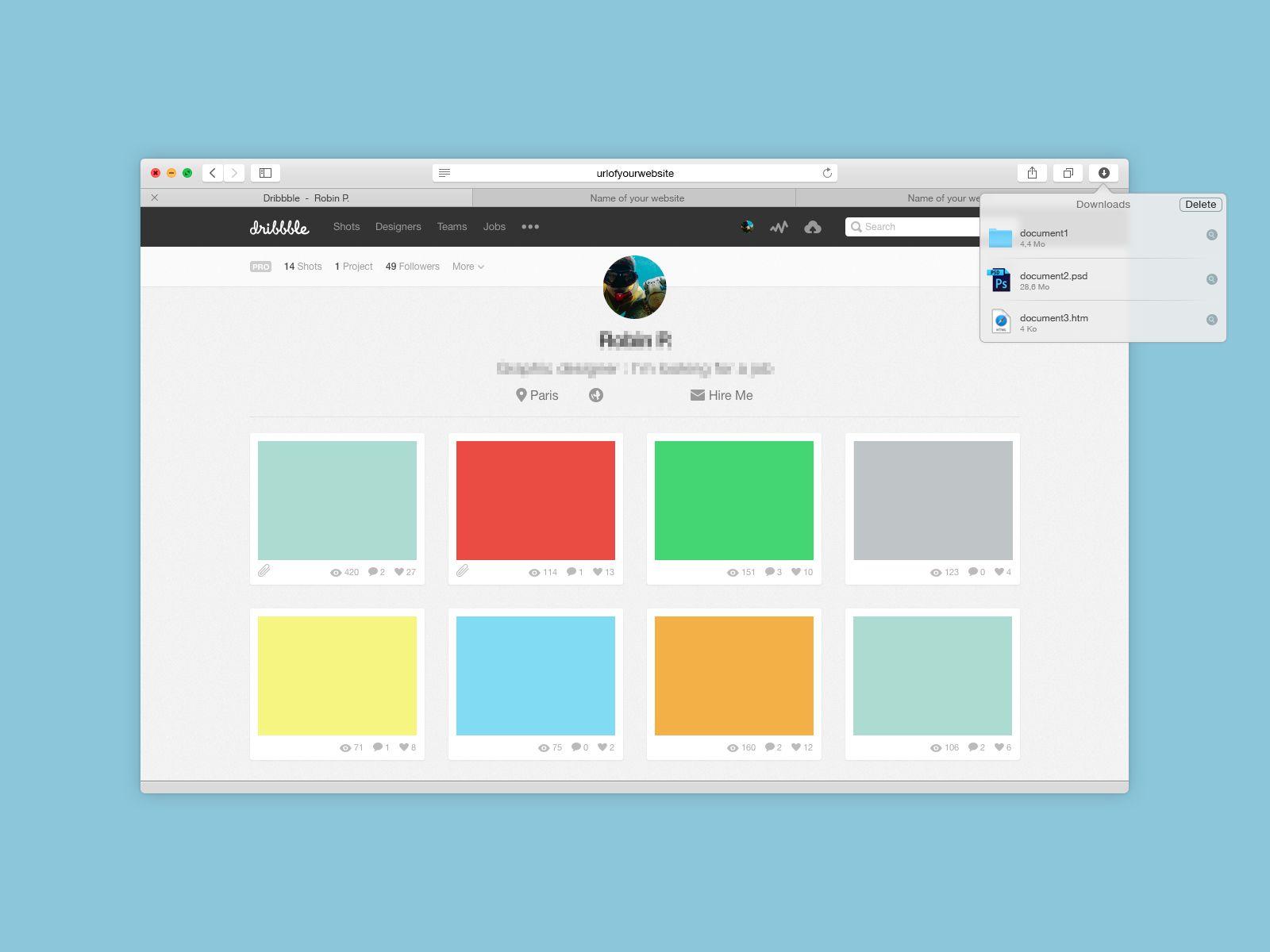 Download Free Yosemite Safari Browser Psd Mockup Download Psd Download Free Psd Resources For Designers At Downloadpsd Com Mockup Free Psd Mockup Psd Mockup