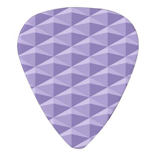 Purple Diamond Design Guitar Pick